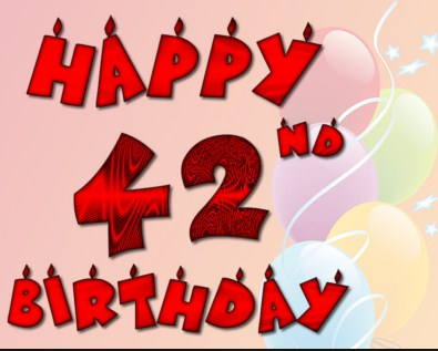 Happy 42nd Birthday Wishes And Greetings Happy Birthday Lines