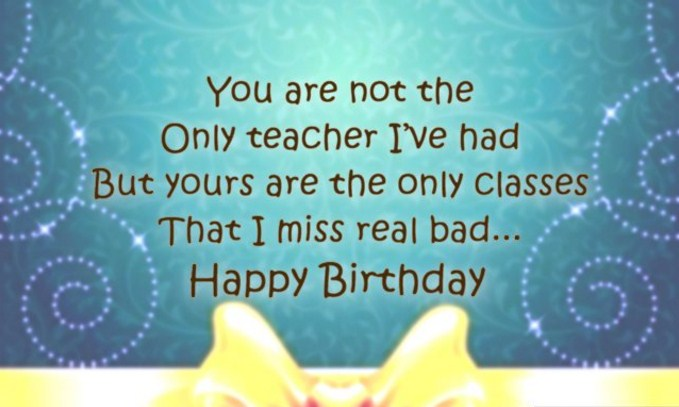50 Amazing Birthday Wishes For Teacher 2017 Happy Birthday Lines